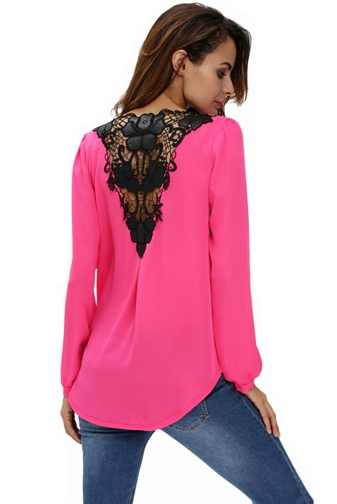 wrap front blouse us 7 02 stylish rosy crochet back wrap front blouse