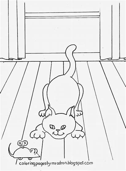 Cat Coloring Mouse Toy Mr Pounce Printable