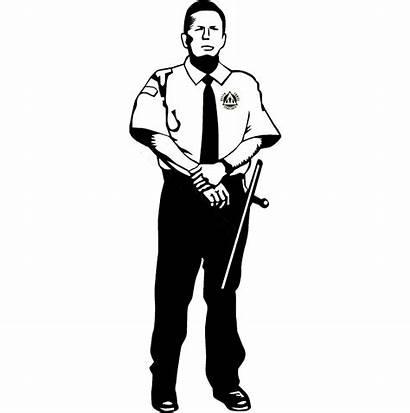 Security Guard Clipart Police Cartoon Officer Policeman
