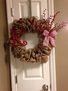 DIY burlap Christmas Wreath;)   Crafty   Pinterest
