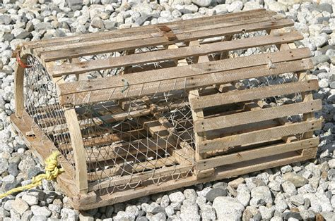 antique vintage wooden maine lobster trap or