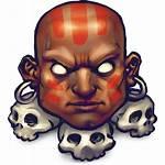 Fighter Street Dhalsim Icon Face Avatar Skull
