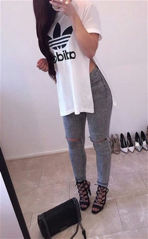 Top adidas white long shirt shoes t-shirt cool cute outfit dope casual swag - Wheretoget