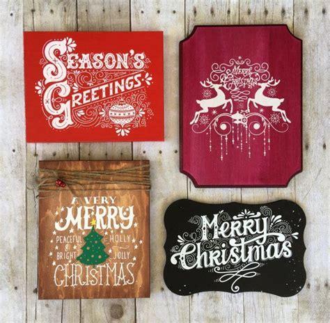 diy screen printing custom wooden christmas signs  steps