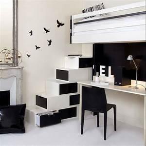 amenagement studio gain de place escalier paris par With beautiful meuble gain de place cuisine 4 architectes paris studio gain de place paris