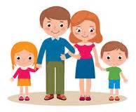 studenten küche karikatur familie mit eltern und kindern vektor abbildung bild 41675441