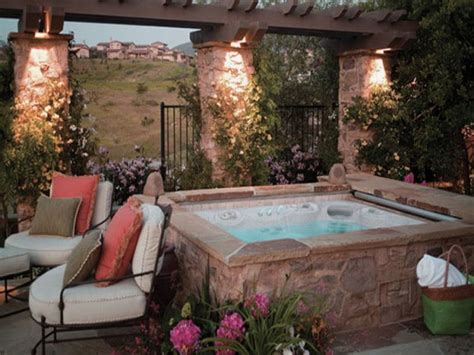 Backyard With Tub by 20 Relaxing Backyard Designs With Tubs