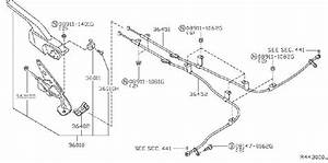 Nissan Maxima Parking Brake Cable  Front