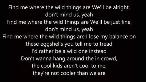 alessia  wild  lyrics youtube