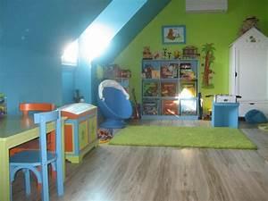 chambre de notre loustic photo 17 37 3498401 With chambre enfant bleu et vert