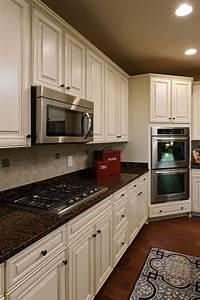contemporary kitchen white kitchen cabinets baltic brown ...