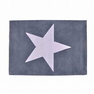 tapis laine gris fonce etoile gris clair lorena canals With tapis gris etoile