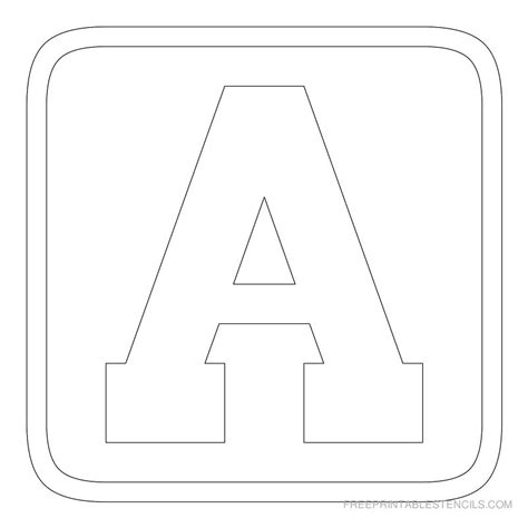 Block Letter Templates by Printable Block Letter Stencils Free Printable Stencils