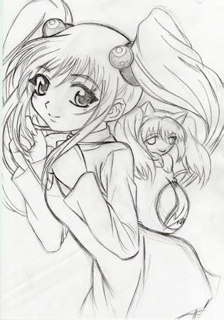 menggambar anime mudah  photoshop blog