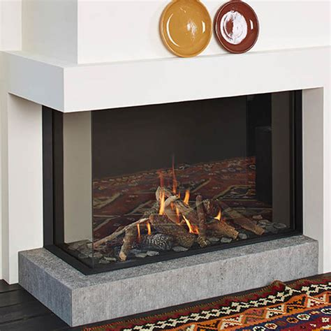 lineafire fireplaces corner  left wood  gas