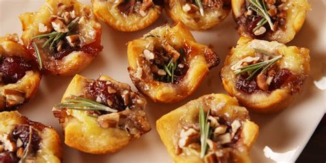 Christmas Appetizers; Pigs In Blanket And Cranberry Brie