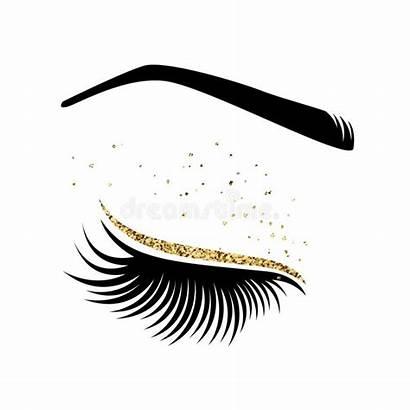 Lashes Lash Vector Illustration Eyelash Extension Extensions