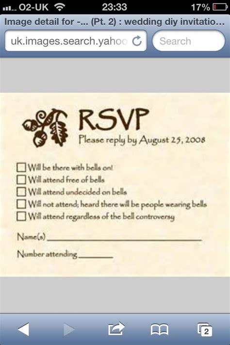 Funny RSVP Card