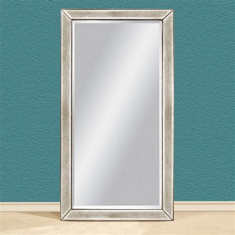 floor mirror beveled shop bassett mirror company antique mirror beveled floor mirror at lowes com