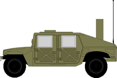 military jeep side free vector graphic jeep hammer military green free