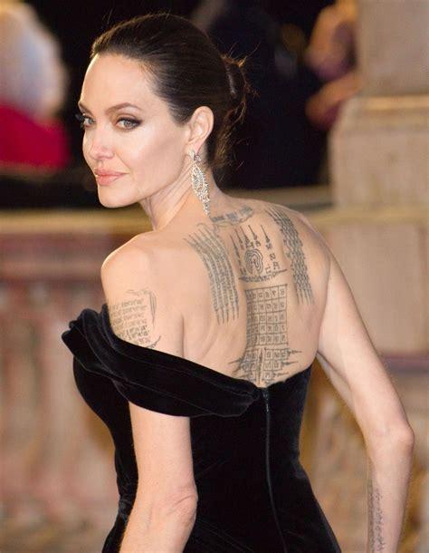 tout savoir sur les tatouages dangelina jolie elle