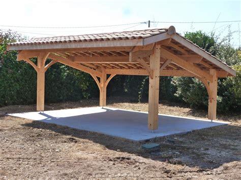 abri bois voiture construction d un carport bois 2 voitures