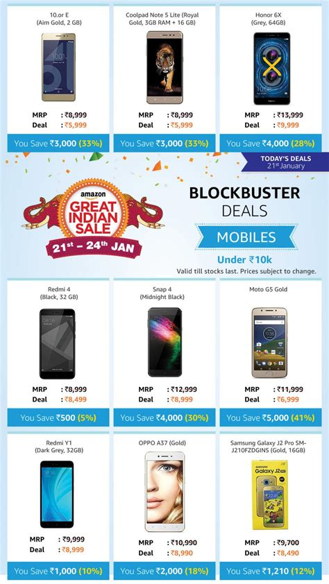 Best Mobile Offers Best Offers On Mobile Phones At Great Indian Sale