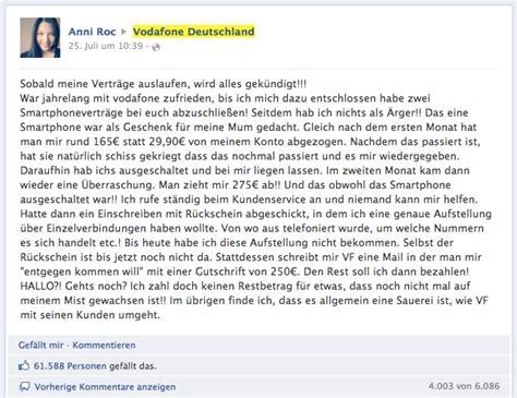 vodafone facebook kundenbeschwerde mit ueber  likes
