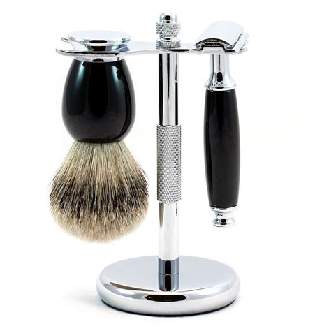 """Eglinton"" 3-Piece Classic Wet-Shaving Kit with Safety"