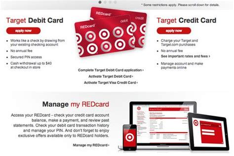 Note that this is not the target.com shopping login, but the dedicated credit card login. Target's Redcard login site crashes after data breach - Puget Sound Business Journal