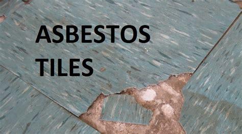 identifying asbestos  floor tiles asbestos mesothelioma