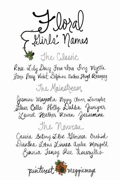 Names Middle Flower Imgur Unique Classic Spanish