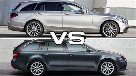 2019 Mercedes Cclass Estate Vs 2018 Skoda Octavia Combi