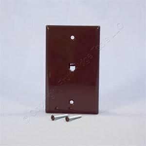 Leviton Brown Phone Jack Wall Plate 4