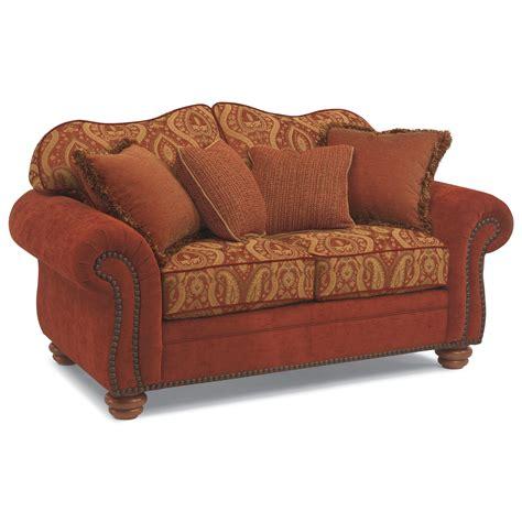 flexsteel bexley leather sofa price flexsteel bexley melange love seat with nails knight