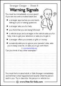 Stranger Danger Worksheets for Kids