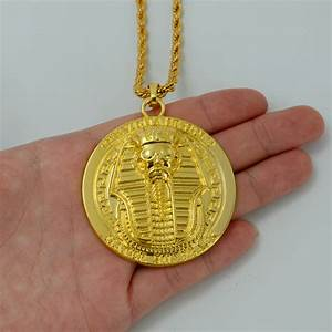 Anniyo Pharaoh of Egypt Necklaces Gold Color Egyptian ...
