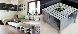 Table Basse Caisse Bois : un meuble en palette de bois pour chaque pi ce de la maison ~ Nature-et-papiers.com Idées de Décoration