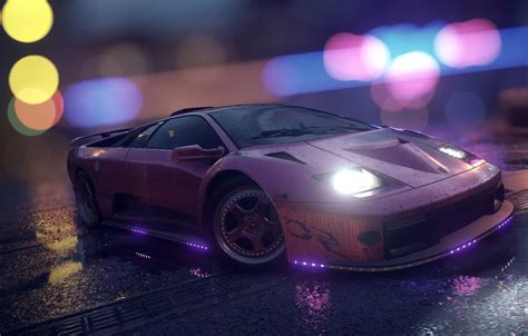 wallpaper lamborghini nfs purple neon diablo tuning
