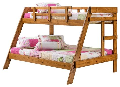 heartland twin  full wooden bunkbed traditional