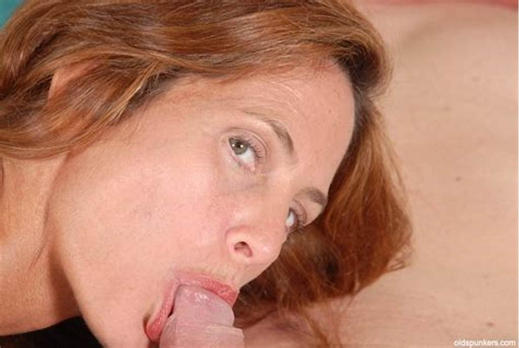 #Stunning #Redhead #Mature #Sherry #Gives #A #Blowjob #And #Gets