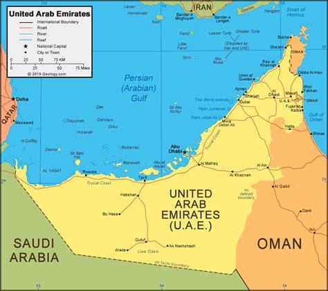 uae united arab emirates map  satellite image