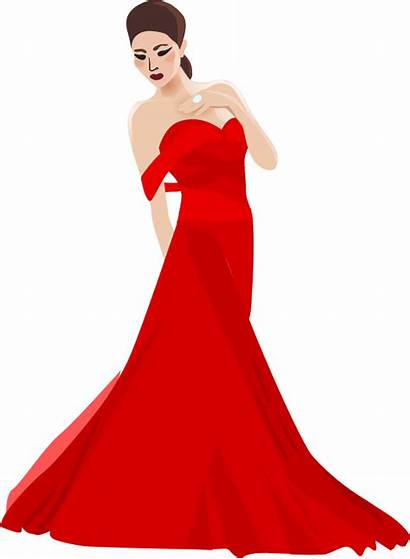 Clipart Clip Woman Chinese Lady Gown Transparent