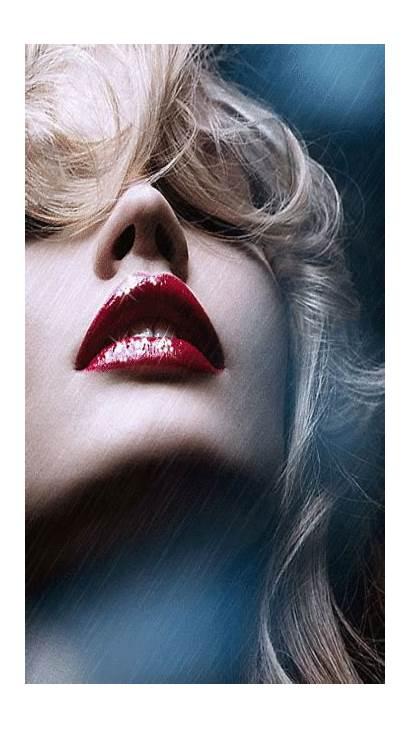 Lips Woman Sparkling Rain