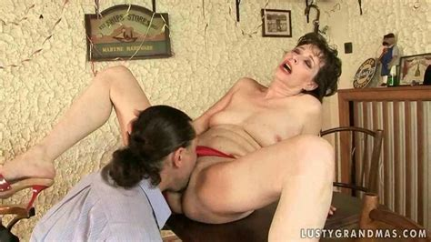 lusty granny gets her hairy pussy fucked by the dude on gotporn 1197050