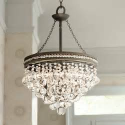 olive bronze 19 quot wide chandelier
