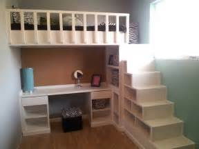 Bunk Beds With Desk And Stairs Ikea by Loft Bed And Desk With Shelves As Stairs Yes Money Is