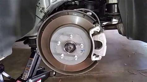 gm chevrolet camaro checking rear disc brakes rotor