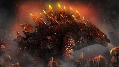 Godzilla 4k Fire Wallpapers Monsters Kotm King