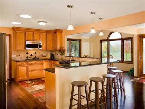 kitchen breakfast bars designs open kitchen with breakfast bar kitchen cleveland by 5132